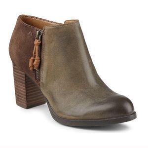 Speedy Dasher Lille leather & suede booties